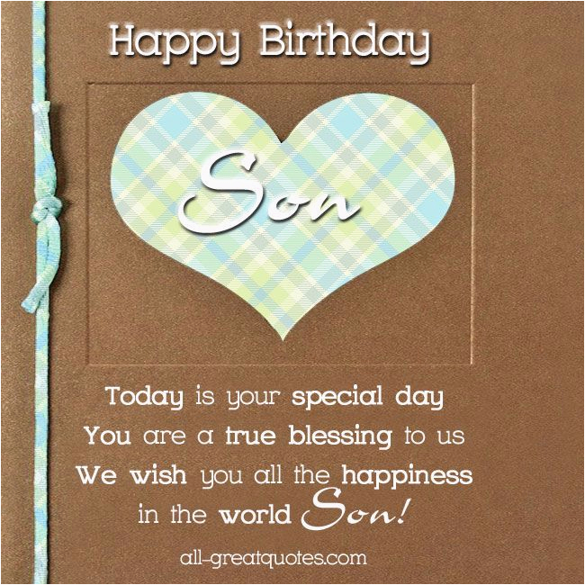 Free Printable Birthday Cards for My son Free Birthday Cards for son Happy Birthday son Happy