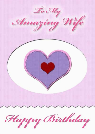 wife birthday cards my free printable cards com