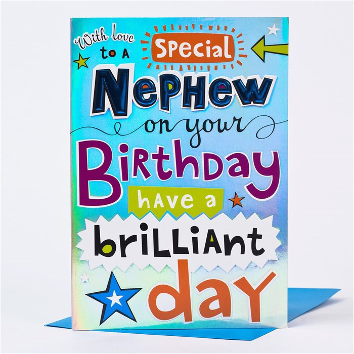 Free Printable Birthday Cards For Nephew Messages Happy With