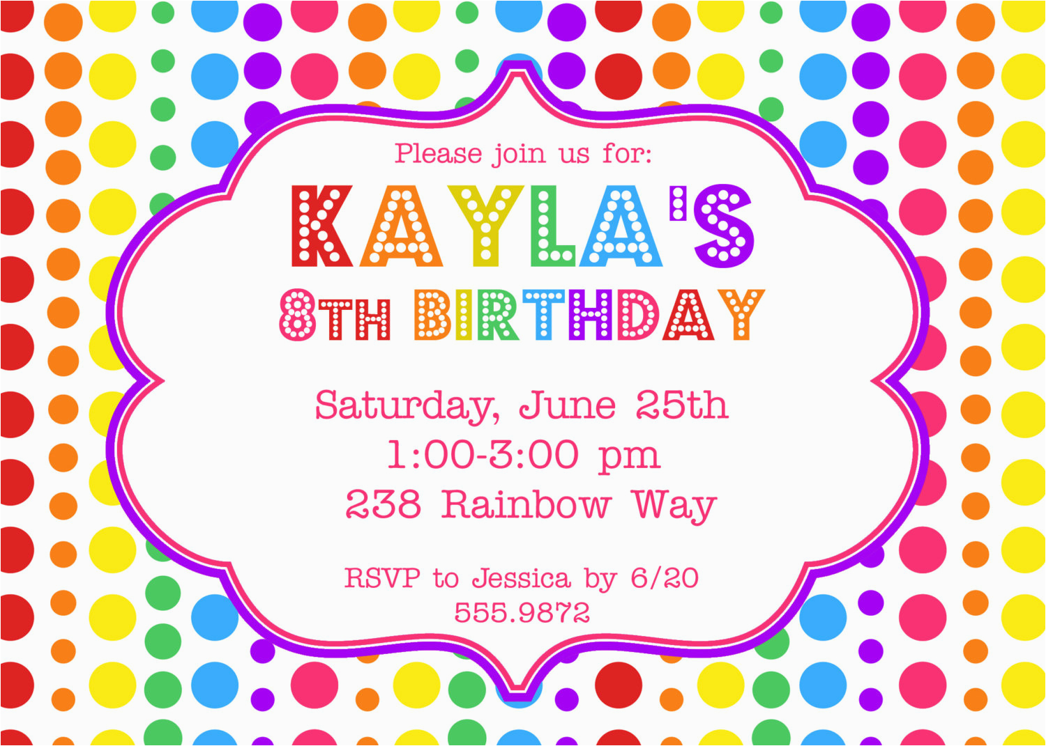 Free Printable Birthday Invitation Cards With Photo Invites Party Invitations