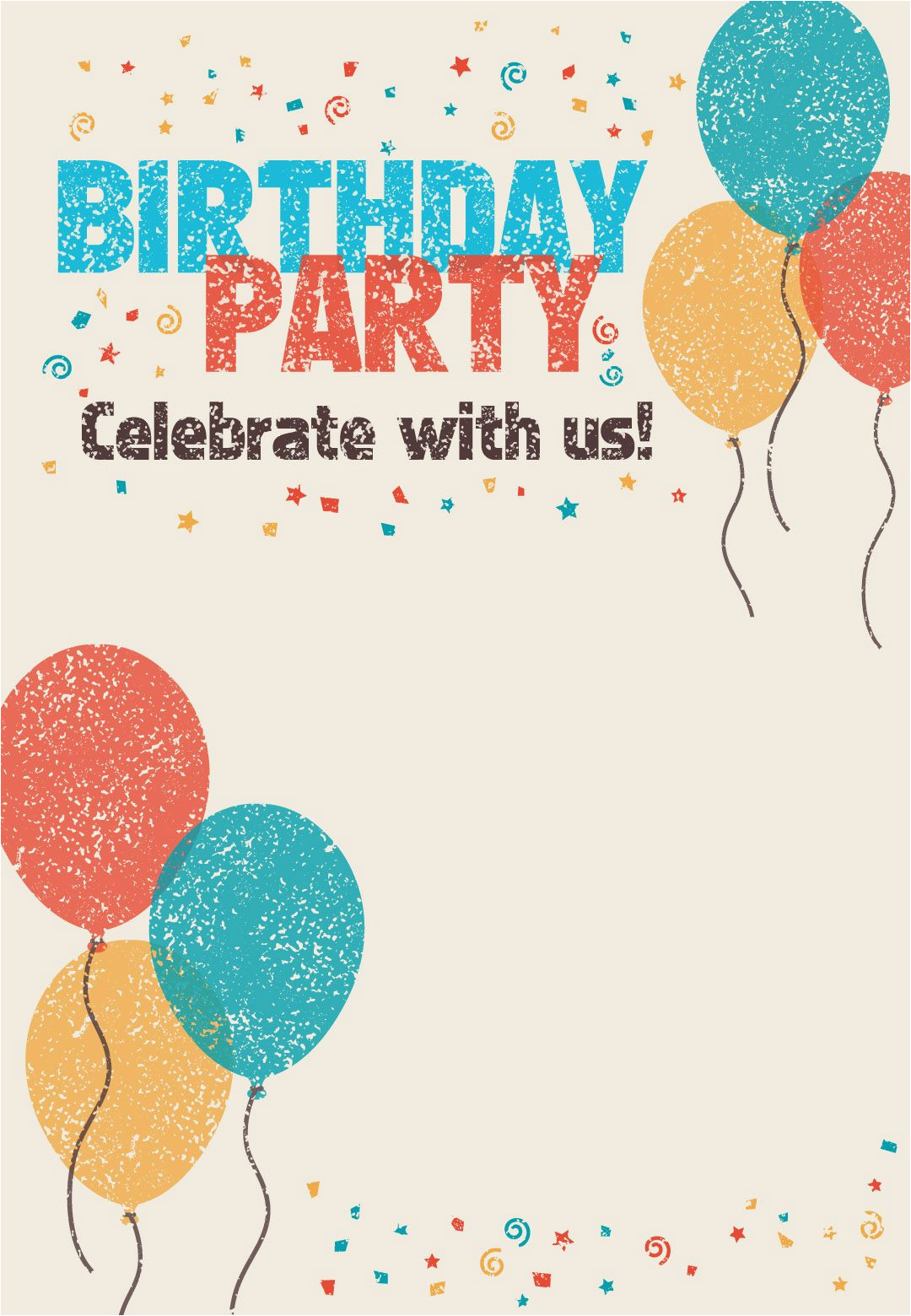 Free Printable Birthday Invitation Cards With Photo Celebrate Us Great Site
