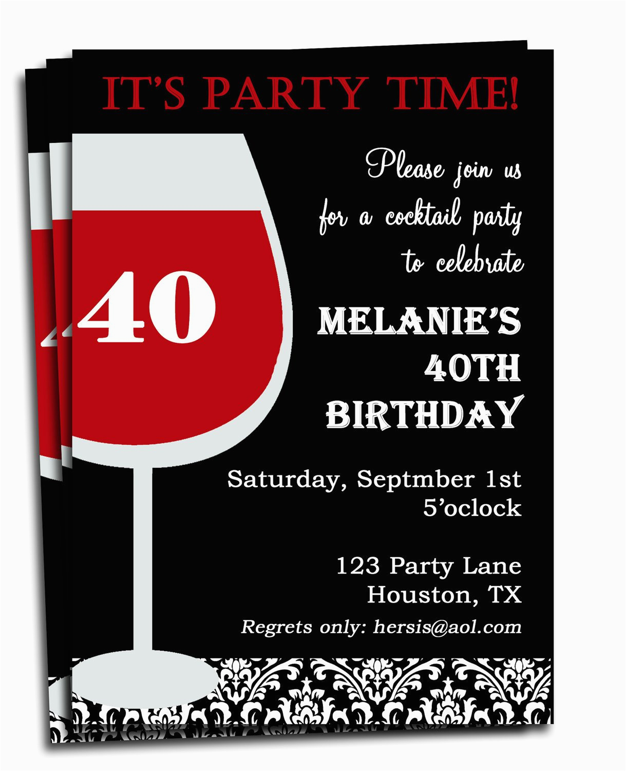 adult birthday invitation printable personalized for your