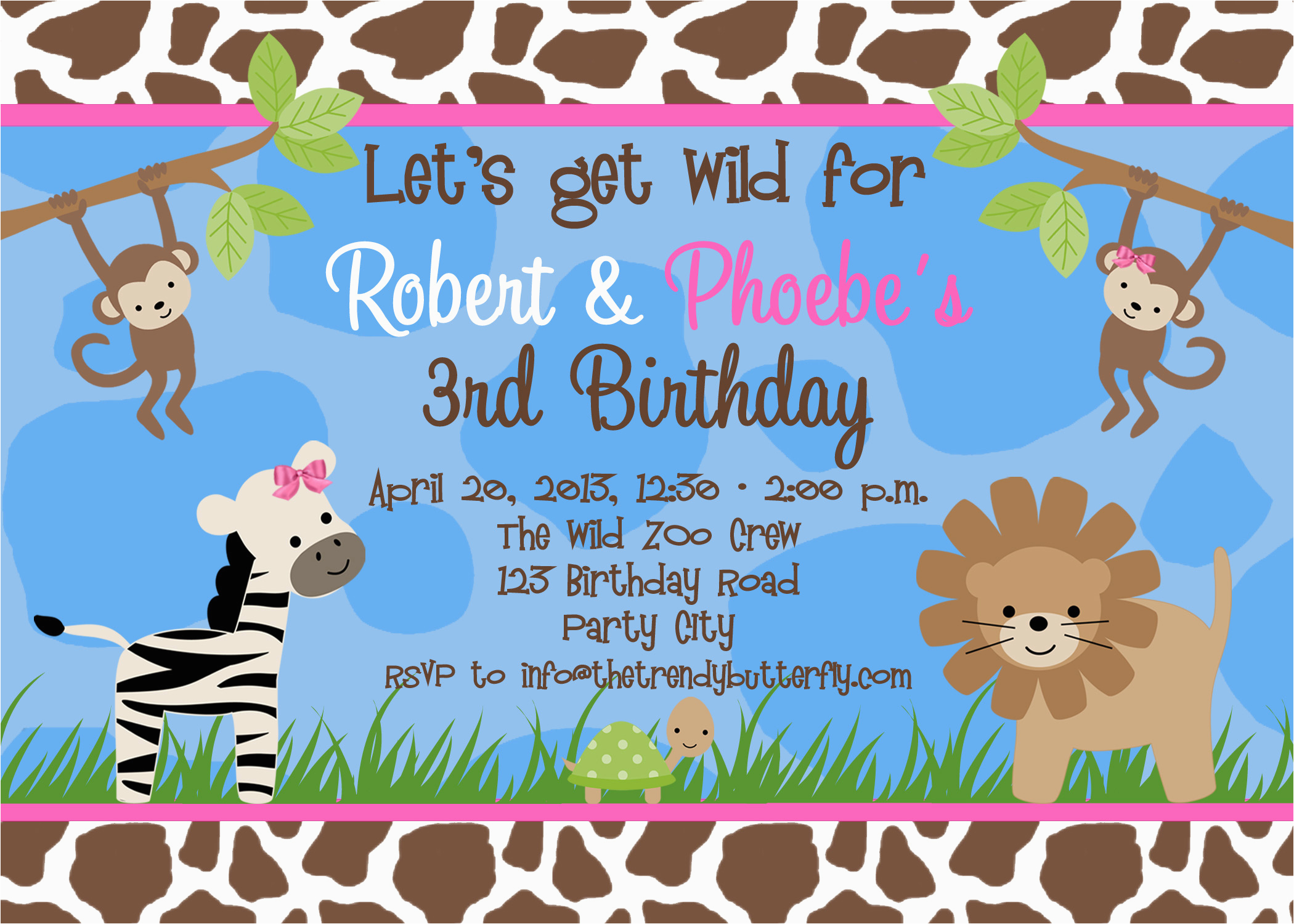 Free Printable Birthday Invites For Kids Party Invitation Templates