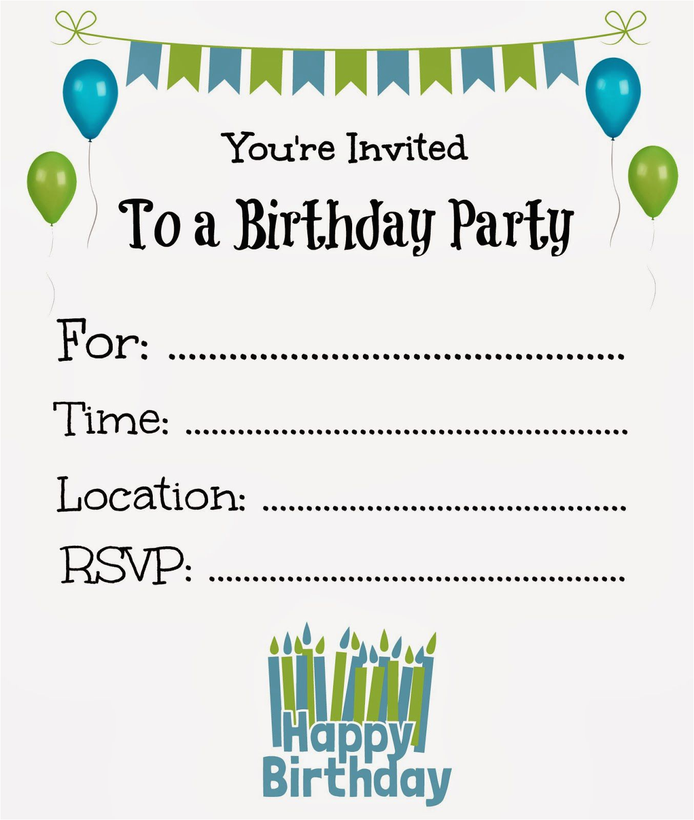 Free Printable Birthday Party Invitations For Boys 21 Kids