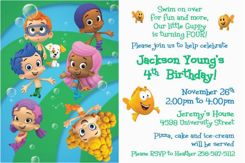 bubble guppies birthday invitations ideas bagvania free