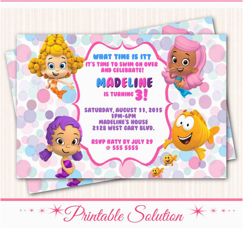 bubble guppies invitation bubble guppies birthday party