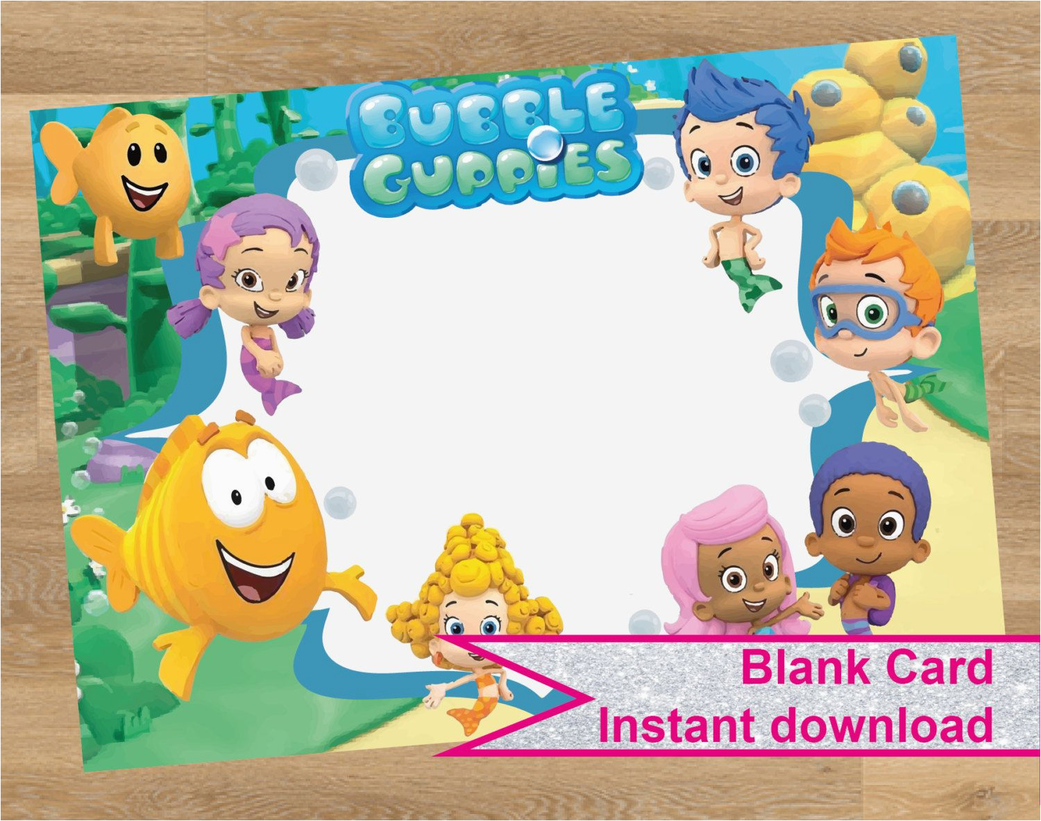 bubble guppies invitation bubble guppies card birthday