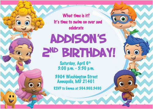 free printable bubble guppies birthday invitations