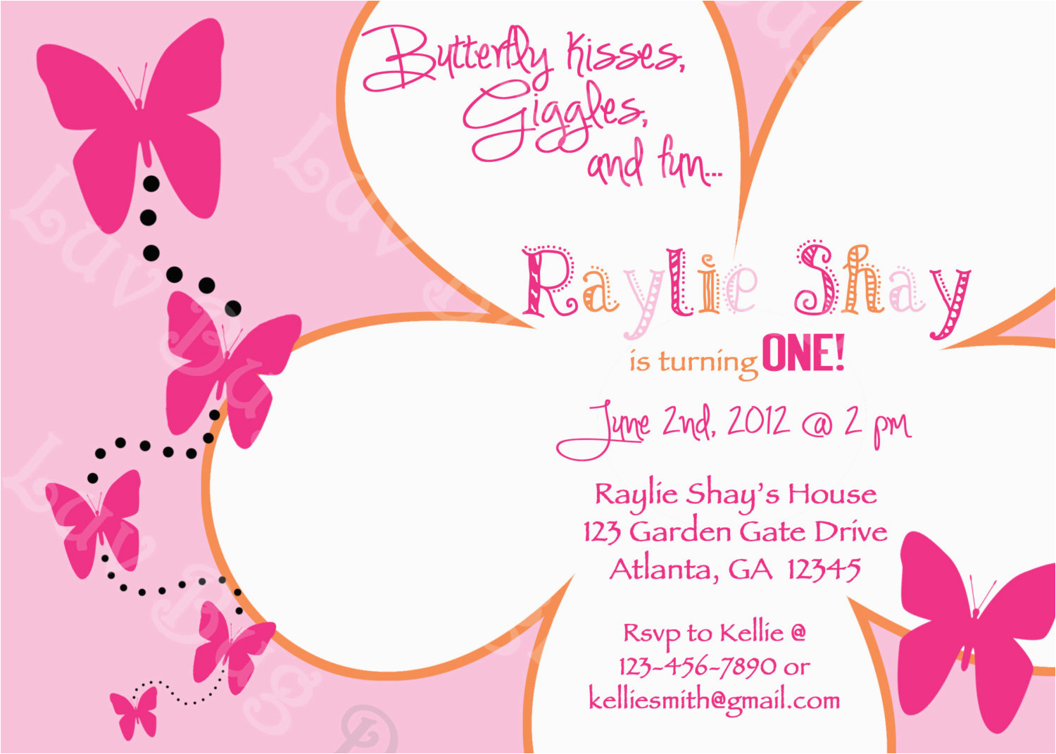 Free Printable Butterfly Birthday Invitations 5 Best Images Of