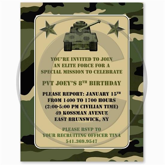 camo birthday invitations ideas bagvania free printable