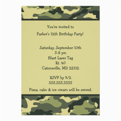 Free Printable Camouflage Birthday Invitations Free Printable Camouflage Invitations