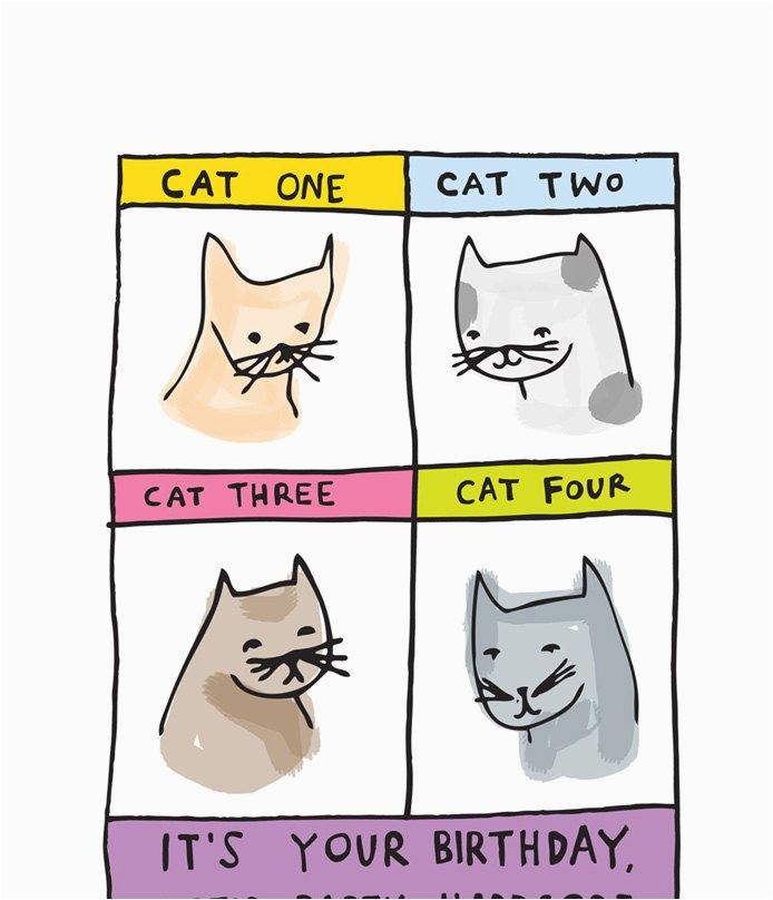 birthday card cat one cat two cat three
