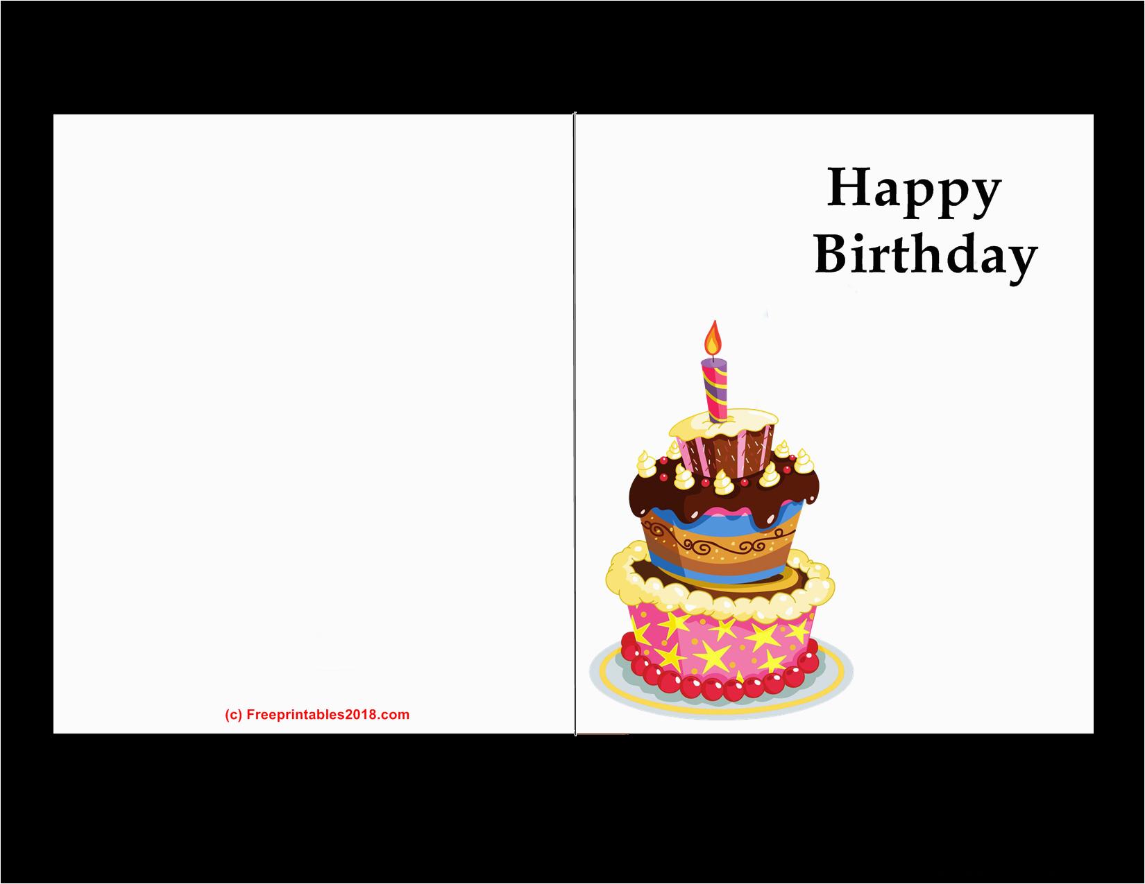 printable birthday cards free printables 2018
