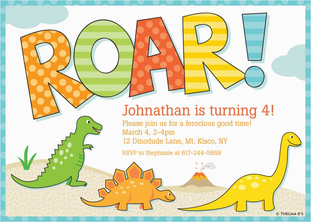 Free Printable Dinosaur Birthday Invitations Dinosaur Birthday Party Invitations Bagvania Free