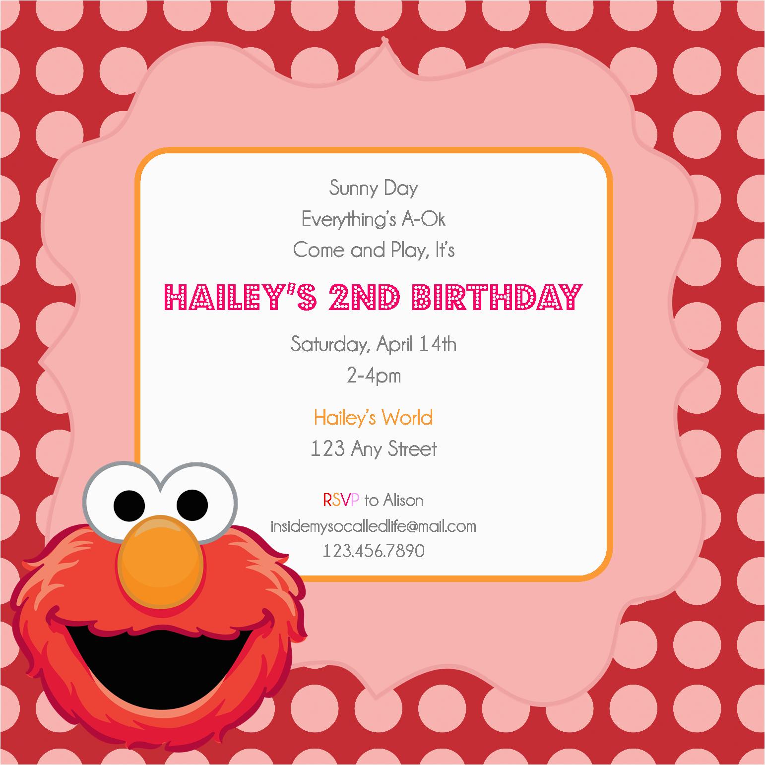 Free Printable Elmo Birthday Invitations Template Invitation