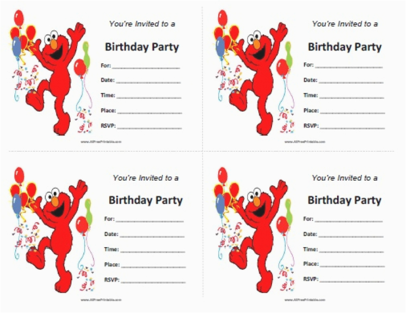 elmos invitation free printable