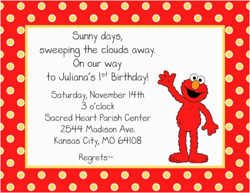 Free Printable Elmo Birthday Invitations Template Free Printable