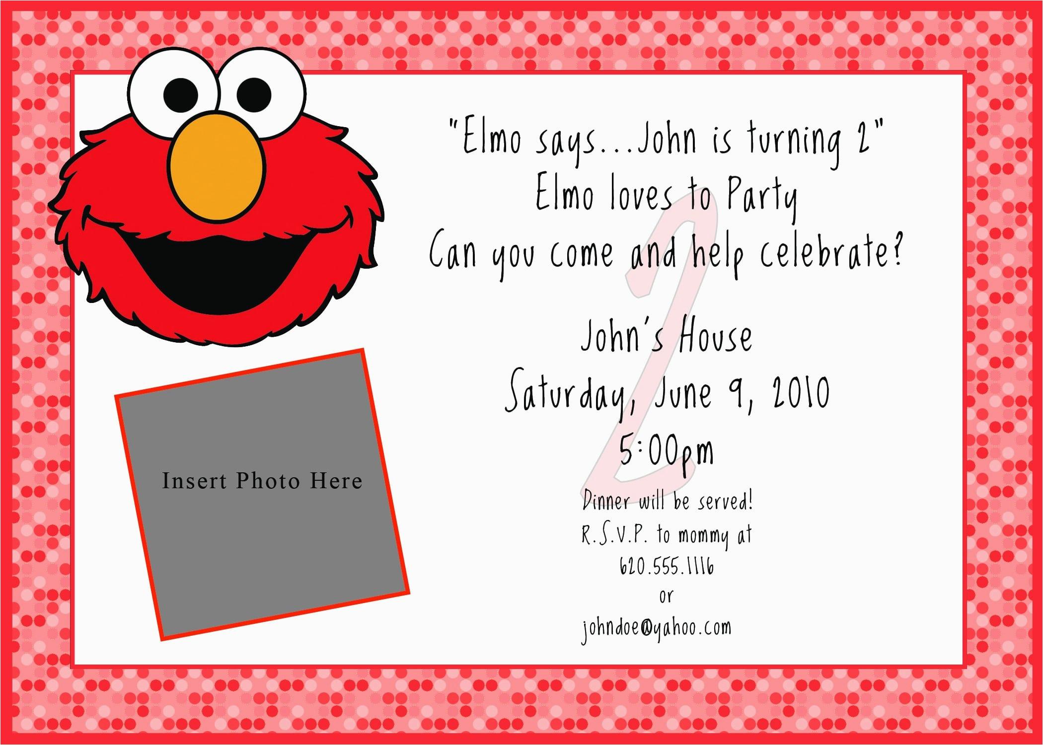 Free Printable Elmo Birthday Invitations Template Printable Free