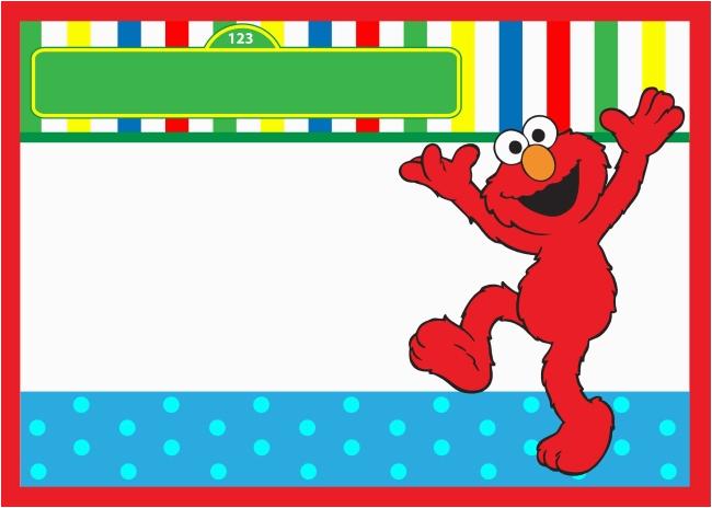 Free Printable Elmo Birthday Invitations Template Start Your Party with Sesame Street Birthday Invitations