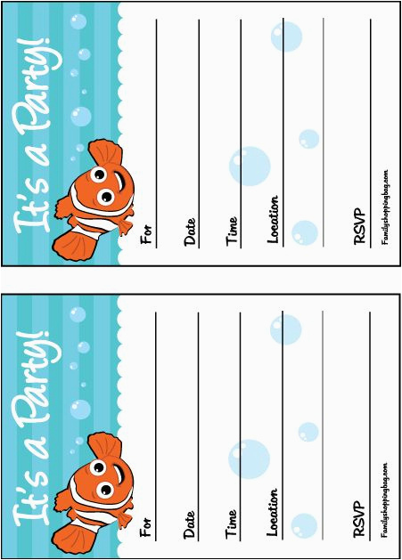 nemo birthday printables