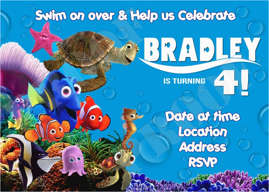 finding nemo birthday invitations template