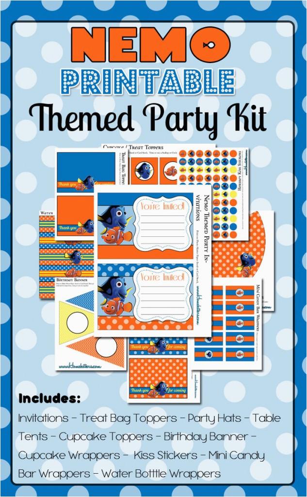 Free Printable Finding Nemo Birthday Invitations Party Printables