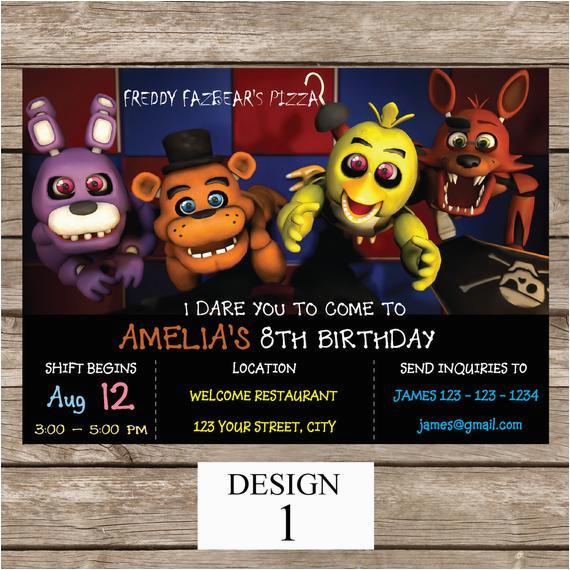 Free Printable Five Nights At Freddy S Birthday Invitations 39 Invitation
