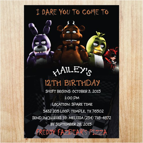 printable five nights at freddys