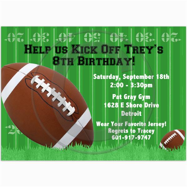 free football birthday party invitation
