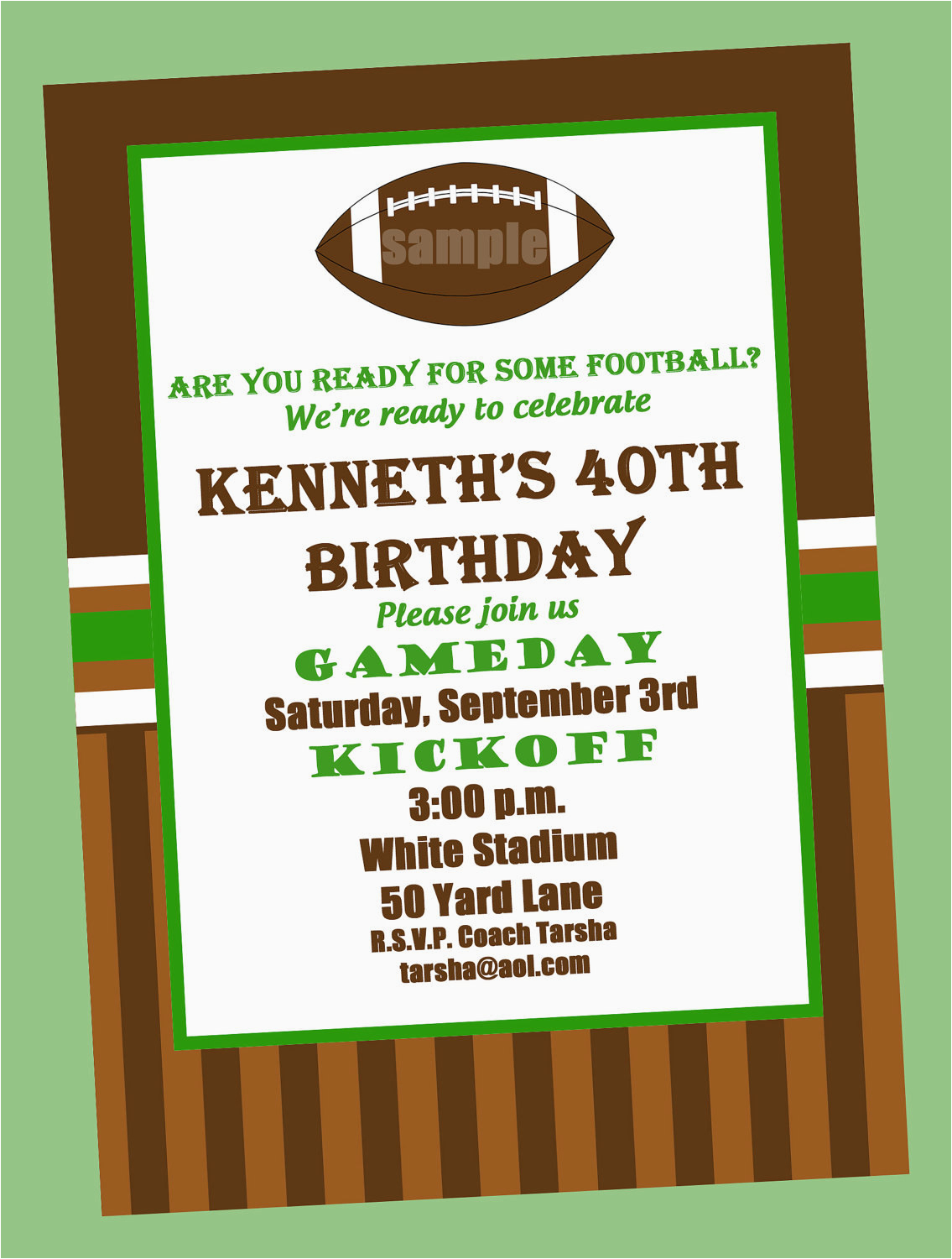 Free Printable Football Invitations For Birthday Party Invitation Or Printed With