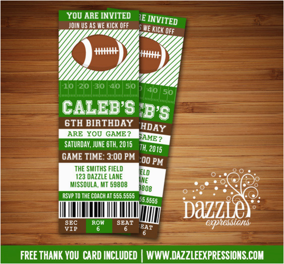 graphic about Super Bowl Party Invitations Free Printable identify Cost-free Printable Soccer Invites for Birthday Bash