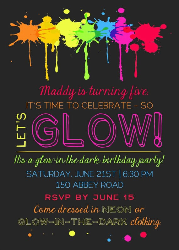 epic glow in the dark party ideas