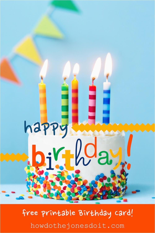 happy birthday card free printable