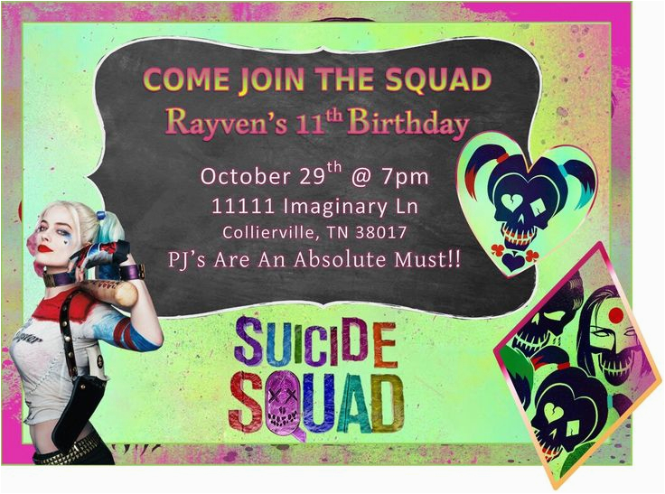 Free Printable Harley Quinn Birthday Invitations 36 Best Images About Suicide Squad On Pinterest Joker