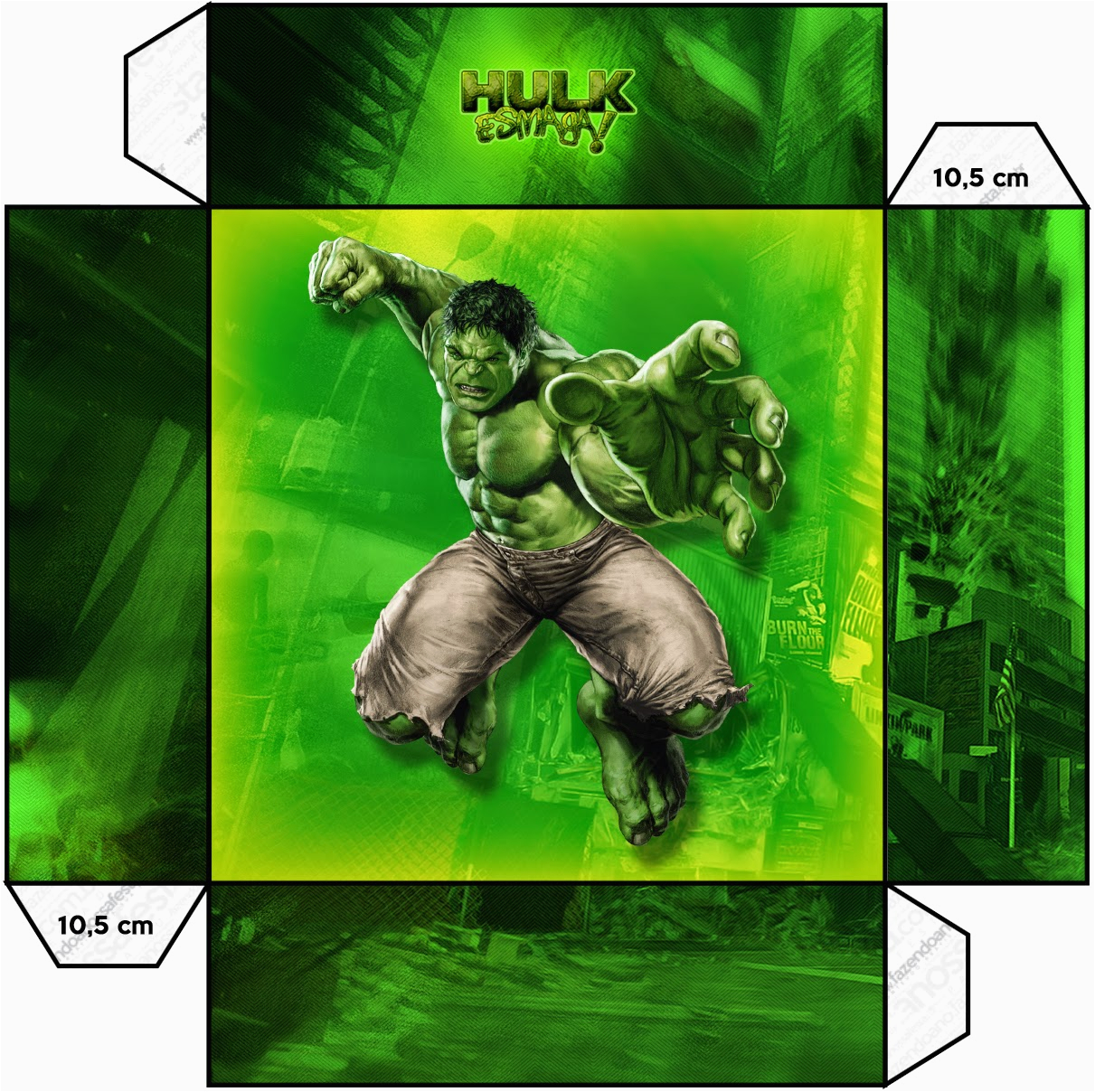 Free Printable Hulk Birthday Invitations Boxes Oh My Fiesta In English