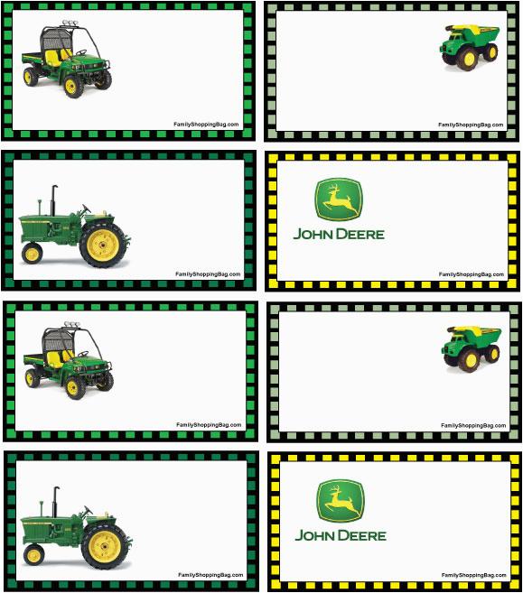 Free Printable John Deere Birthday Invitations 20 Tractor