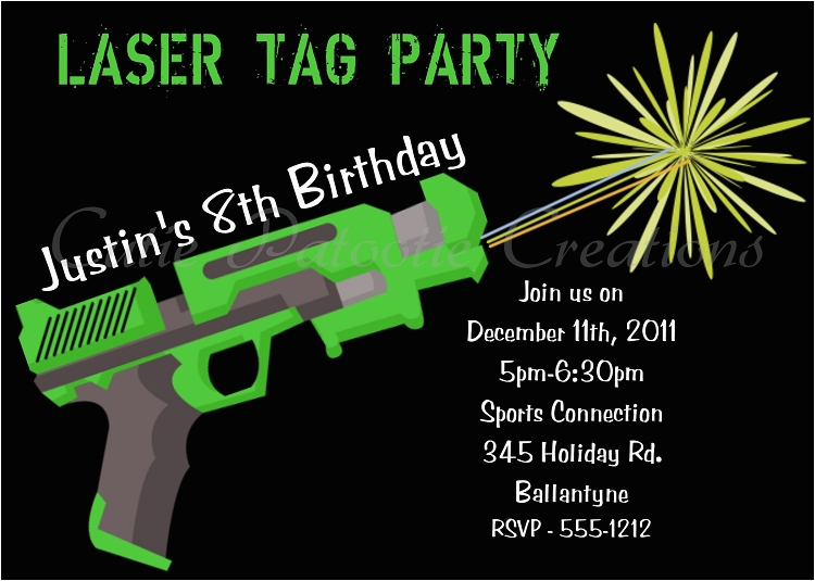 picture about Printable Laser Tag Birthday Invitations called Free of charge Printable Laser Tag Get together Invites - Letter
