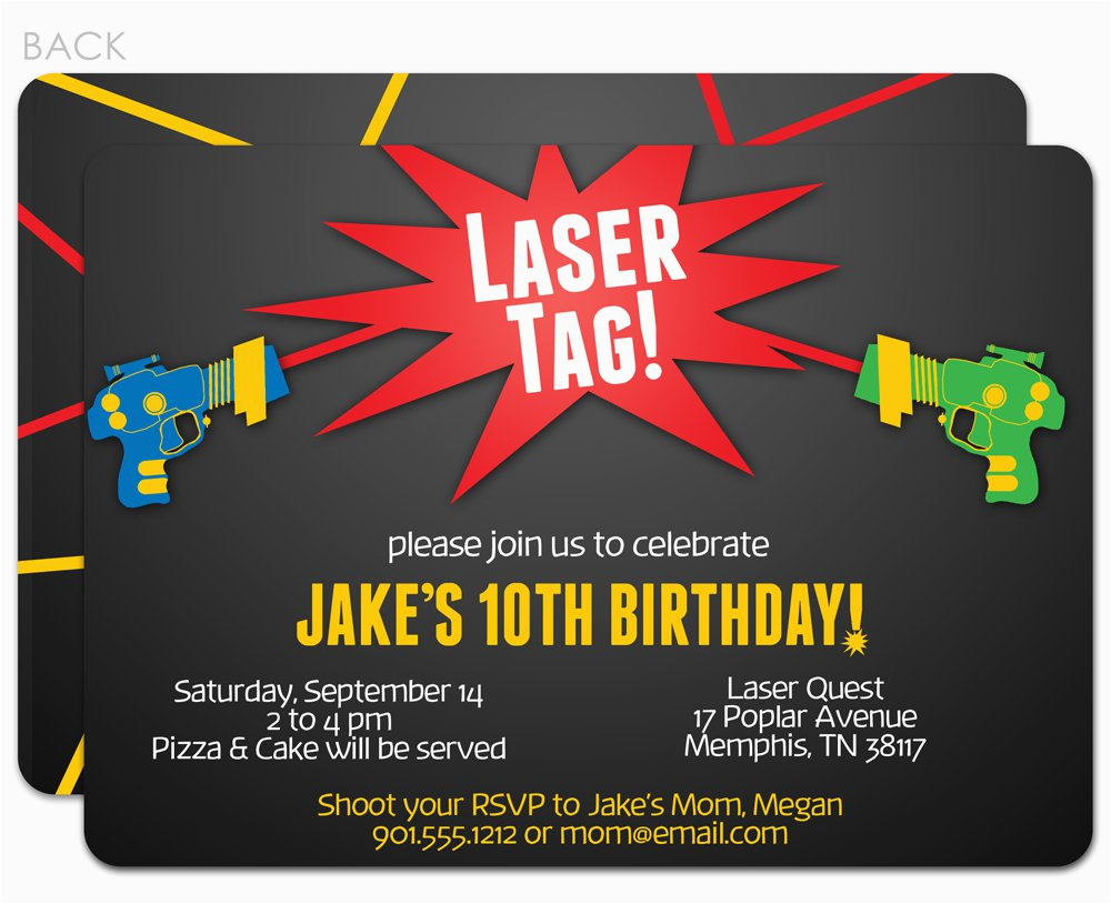 image about Printable Laser Tag Birthday Invitations identified as Absolutely free Printable Laser Tag Birthday Occasion Invites Laser