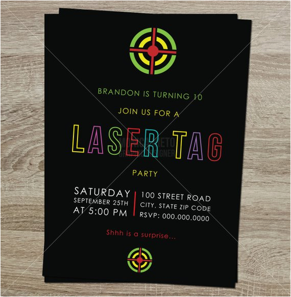Free Printable Laser Tag Birthday Party Invitations Invitation Boys