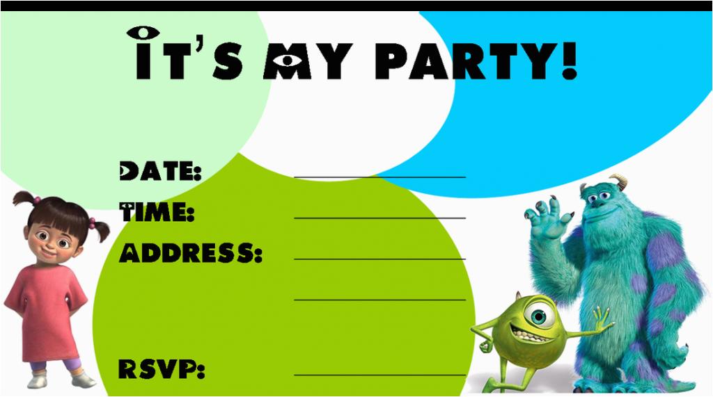 Free Printable Monsters Inc Birthday Invitations Monster Birthday Invitations Ideas Bagvania Free