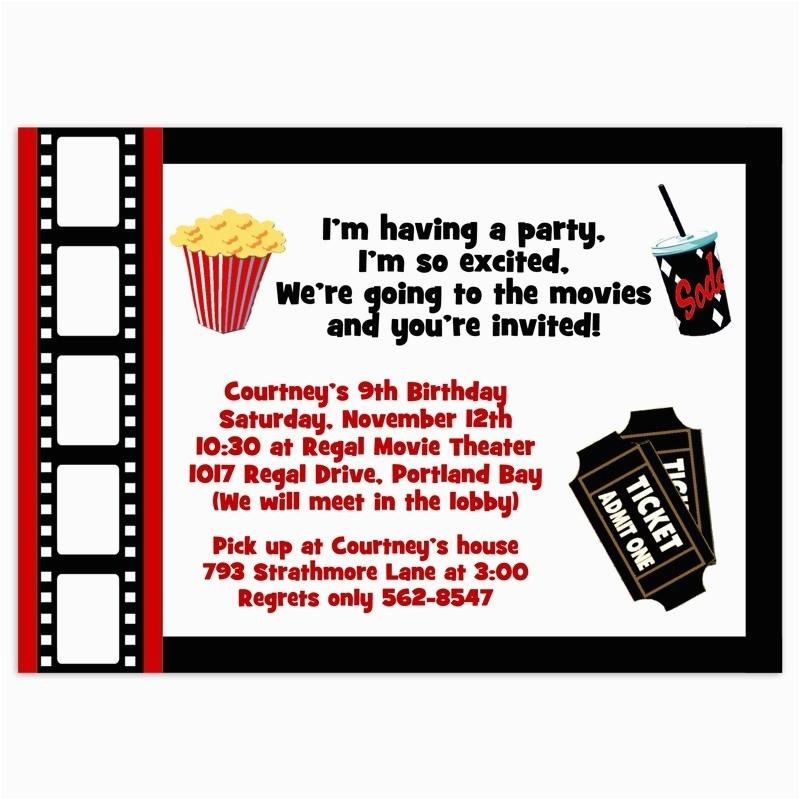 Free Printable Movie Themed Birthday Invitations Template Resume Builder