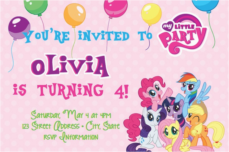 Free Printable Invitations My Little Pony My Little Pony Birthday In