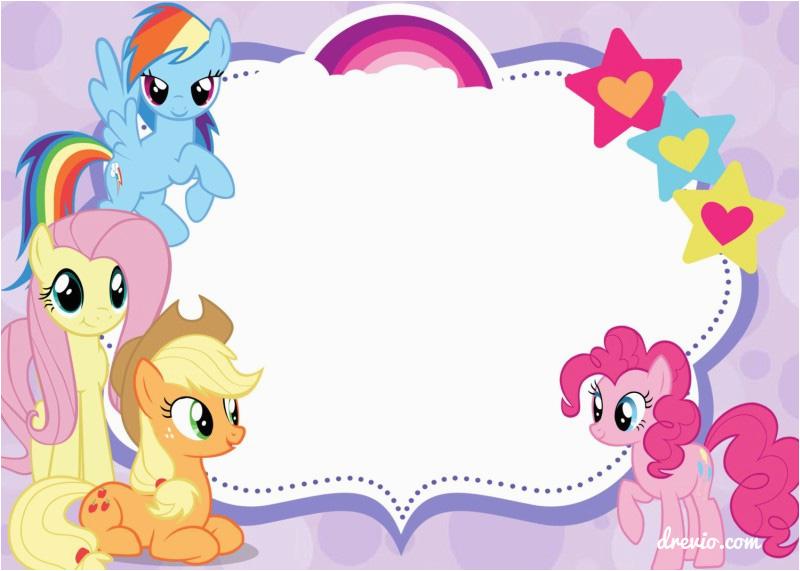 free printable my little pony birthday invitations