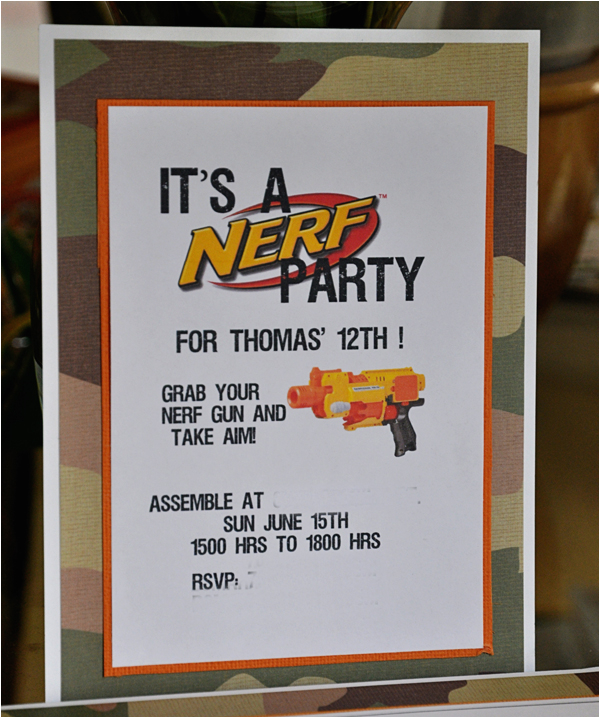 graphic about Free Printable Nerf Birthday Invitations identify No cost Printable Nerf Birthday Social gathering Invites Daily life Outdoors