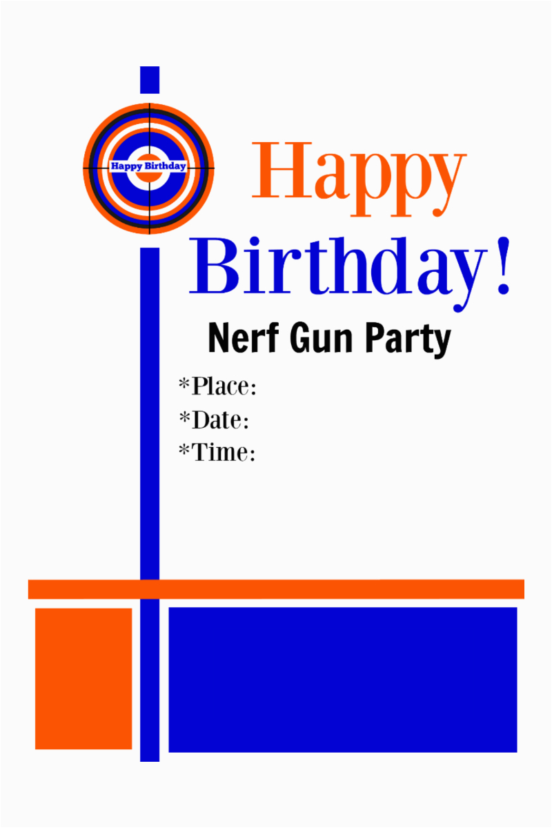 photo regarding Nerf Gun Targets Printable called Cost-free Printable Nerf Birthday Occasion Invites Immediately Upon