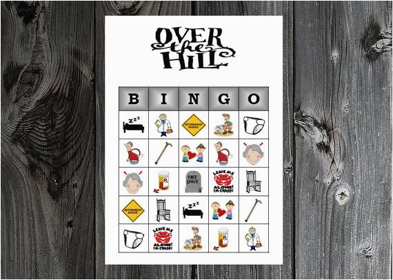 over the hill bingo 30 printable
