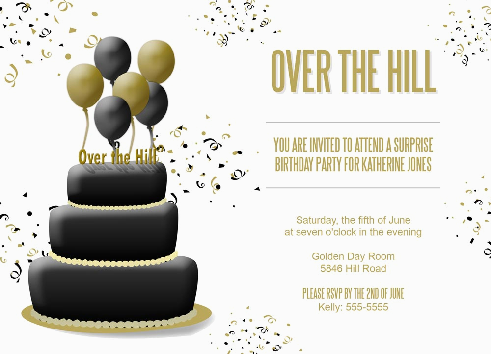 Free Printable Over the Hill Birthday Cards Over the Hill Birthday Invitations Dolanpedia