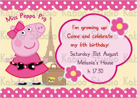 Free Printable Peppa Pig Birthday Invitations Peppa Pig Invitations