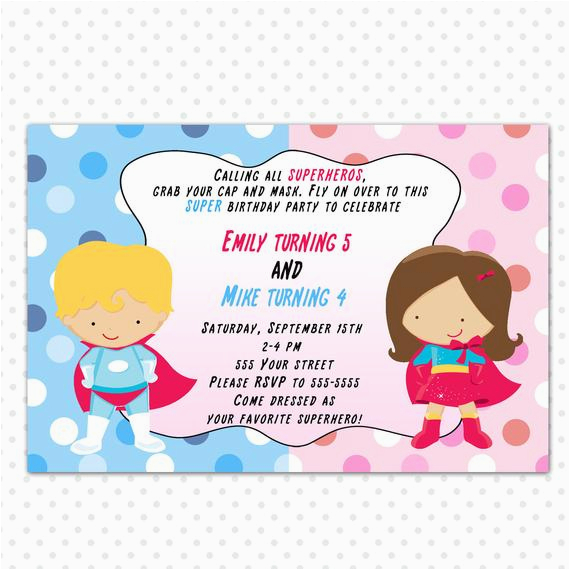 Free Printable Personalised Birthday Cards Superhero Invitation Card Personalized