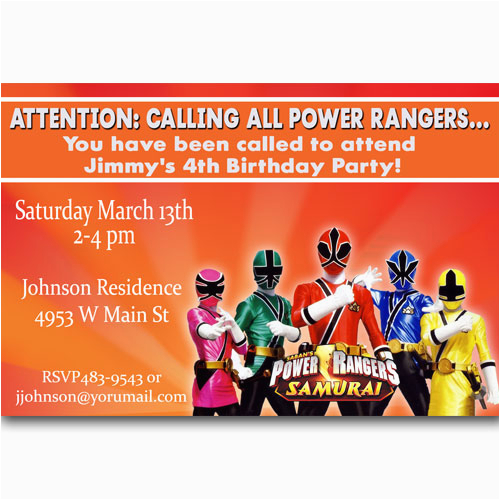 Free Printable Power Ranger Birthday Invitations Rangers Ideas Bagvania